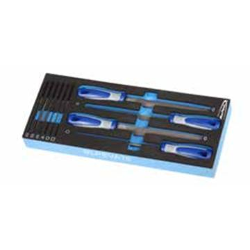 蓝点 EVA工具托组套,10件套锉刀,EVA16