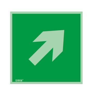 安赛瑞 IMO安全标识-双向箭头 斜上,自发光板材,150×150mm,20275