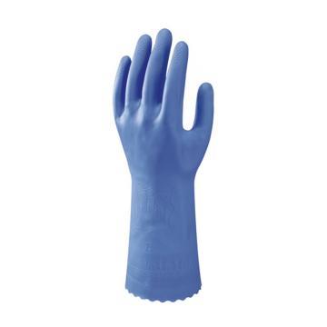 尚和倍斯特SHOWA BEST PVC植绒手套,蓝色,170-9