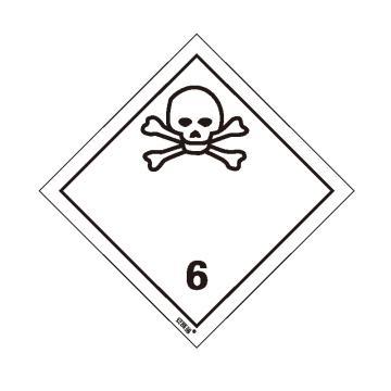 安赛瑞 危险品标识-毒性物质 6 , 高性能不干胶,100mm×100mm,32012,20张/包
