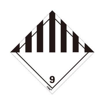 安賽瑞 危險品標識-雜項危險物質和物品 9 , 高性能不干膠,100mm×100mm,32019,20張/包