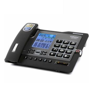 中諾(CHINO-E)電話機座機,固定電話 辦公家用 大按鍵 來電報號 黑名單 G026黑色