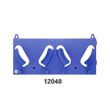 安赛瑞 安全帽放置架(双帽),蓝色,240×550mm,12048