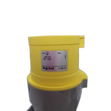 羅格朗/legrand 工業連接器工業插頭IP44 110V 32A 2P+E,555231