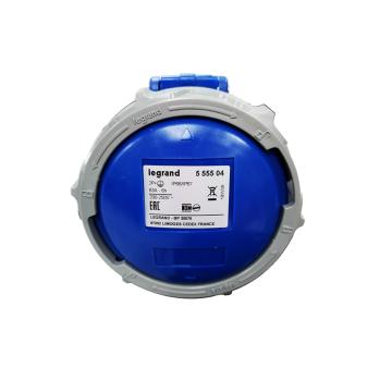 罗格朗Legrand 移动插座,IP 66/67 AC 200/250V 63A 2P+E,555504