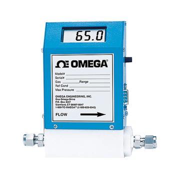 OMEGA 一体式显示的热式气体质量流量计,FMA-A2308,±1%满量程0-50℃响应5秒100:1标准模拟量