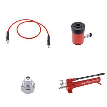 巴可BACO 20吨液压泵组,含高压油管、手压泵、油缸,LXY20-25,A53080200