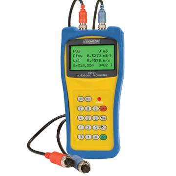 OMEGA 便携式钳式传感器超声波流量计,FDT-21,±1%读数精度 0-160℃ 瞬时/累加流量显示
