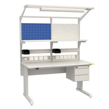 佰斯特 防靜電固定式工作臺,(含雙抽/電源線盒/塑料盒)1530×900×760,PST-GD-29,不含安裝費