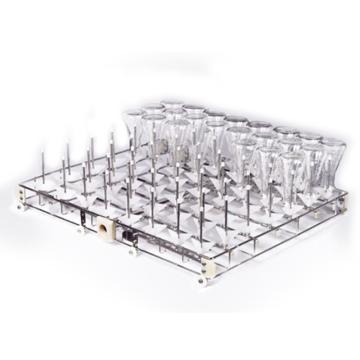 永合创信 标准清洗架,单次清洗60支三角瓶、试管、量筒烧杯(喷柱间距72*70mm),CWIR60