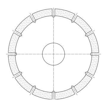 遂盾金刚石砂轮片,Ø150*Ø32*3.5mm,50目