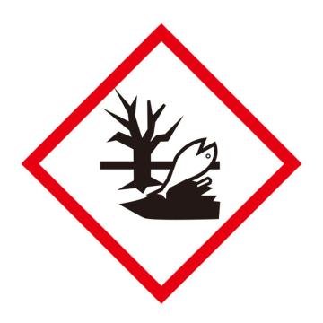 安赛瑞 GHS标签-对环境有害物,高性能不干胶,100×100mm,39647,50片/包