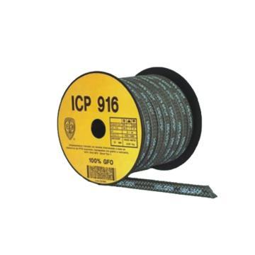 ICP916石墨四氟混合纤维盘根,8mm*8mm,按公斤销售