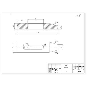 准星机械 钛合金压板,40*22*155mm