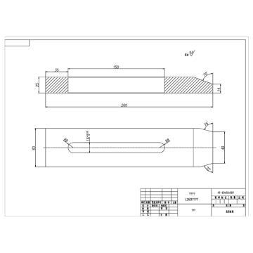 准星机械 钛合金压板,25*60*260mm