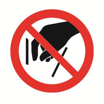 安赛瑞 GB安全警示标签-禁止伸入,Ф50mm ,32604,10片/包