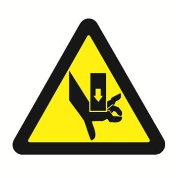 安赛瑞 GB安全警示标签-当心伤手,边长50mm ,32613,10片/包