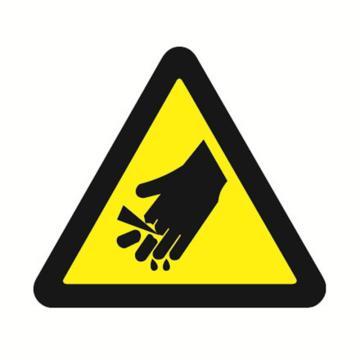 安赛瑞 GB安全警示标签-当心伤手,边长50mm ,32614,10片/包