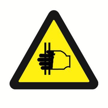 安赛瑞 GB安全警示标签-当心夹手,边长50mm ,32615,10片/包