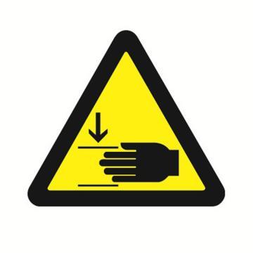 安赛瑞 GB安全警示标签-当心压伤,边长50mm ,32616,10片/包