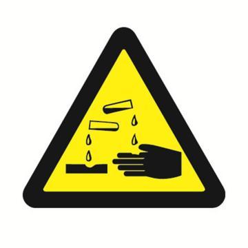 安赛瑞 GB安全警示标签-当心腐蚀,边长50mm ,32617,10片/包