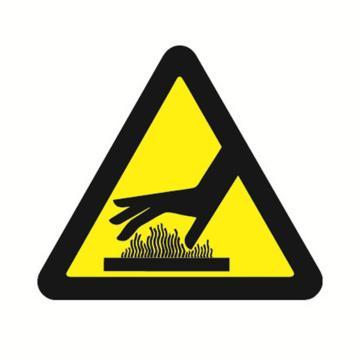 安赛瑞 GB安全警示标签-当心烫手,边长50mm ,32618,10片/包