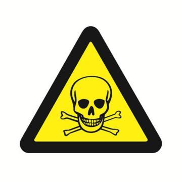 安赛瑞 GB安全警示标签-当心中毒,边长50mm ,32621,10片/包