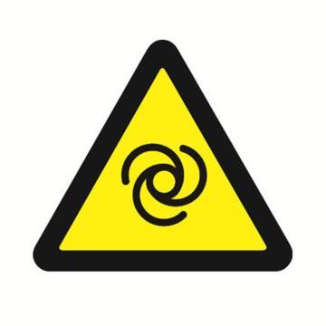 安赛瑞 GB安全警示标签-当心自动启动,边长50mm ,32622,10片/包