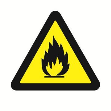 安赛瑞 GB安全警示标签-当心火灾,边长50mm ,32623,10片/包