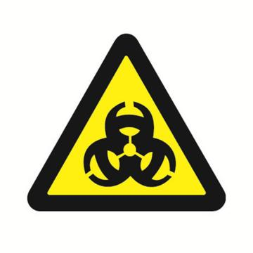 安赛瑞 GB安全警示标签-当心感染,边长50mm ,32625,10片/包