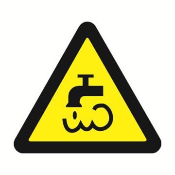 安赛瑞 GB安全警示标签-当心蒸汽和热水,边长50mm ,32629,10片/包