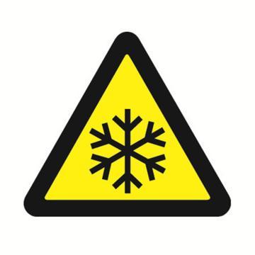 安赛瑞 GB安全警示标签-当心低温,边长50mm ,32630,10片/包