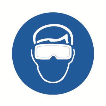 安赛瑞 GB安全警示标签-必须佩戴遮光护目镜,Ф50mm,32635,10片/包