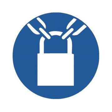 安赛瑞 GB安全警示标签-必须加锁,Ф50mm ,32643,10片/包