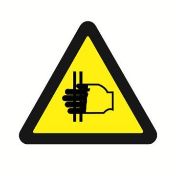 安赛瑞 GB安全警示标签-当心夹手,边长100mm ,32815,10片/包