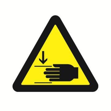 安赛瑞 GB安全警示标签-当心压伤,边长100mm ,32816,10片/包