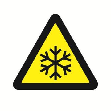 安赛瑞 GB安全警示标签-当心低温,边长100mm ,32830,10片/包