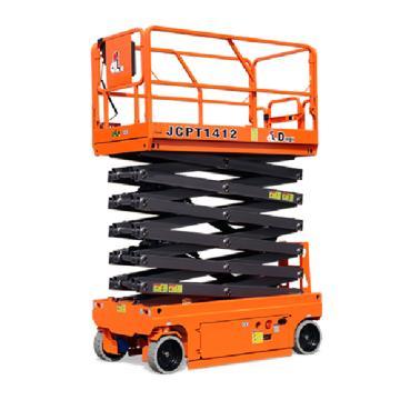 鼎力 自行走剪叉式高空作业平台,工作载荷(kg):320 工作高度(m):13.8 液压马达驱动,JCPT1412HD