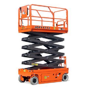 鼎力 自行走剪叉式高空作业平台,工作载荷(kg):320 工作高度(m):12 直流电机驱动,JCPT1212DC