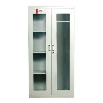 西斯贝尔SYSBEL 紧急器材柜-灰色,带视窗,双门/手动,1800×1200×450mm,WA920450