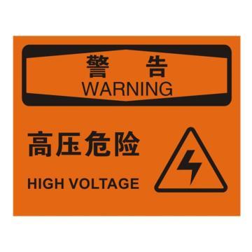 安赛瑞 OSHA警告标识-高压危险,ABS板,250×315mm,31664