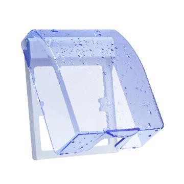 德力西(DELIXI)开关插座防水盒 86型蓝色透明防溅盒面盖 B8631/01/T