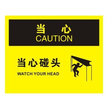 安赛瑞 OSHA当心标识-当心碰头,ABS板,250×315mm,31677