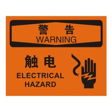 安赛瑞 OSHA警告标识-触电,ABS板,250×315mm,31663