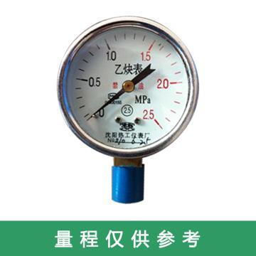 沈阳热工 乙炔压力表,沈阳热工GR6022-0.25MA