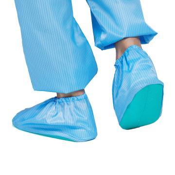防静电鞋套,蓝色防滑底机房微机室防尘室内无尘男女士脚套