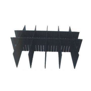 三威 防靜電周轉箱307注塑萬能帶槽隔板,尺寸:555*135*3mm,型號:CGB-307B