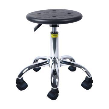 佰斯特 防静电聚氨酯圆凳,440-580mm 防静电轮 椅面带防滑花纹(不含安装),Y-1A