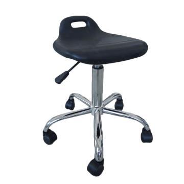 佰斯特 防静电聚氨酯小弯背工作椅,440-570mm 防静电轮 椅面不带防滑花纹(不含安装),Y-2B