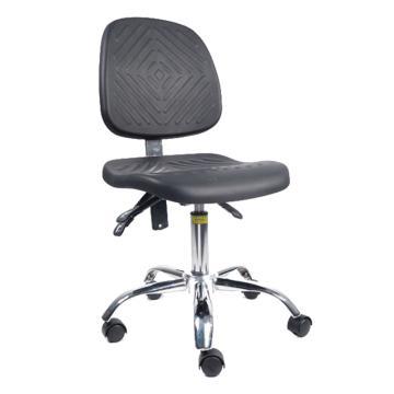 佰斯特 防静电大底座聚氨酯工作椅,450-590mm 弹簧钢 防静电轮 椅面带防滑花纹(不含安装),Y-4